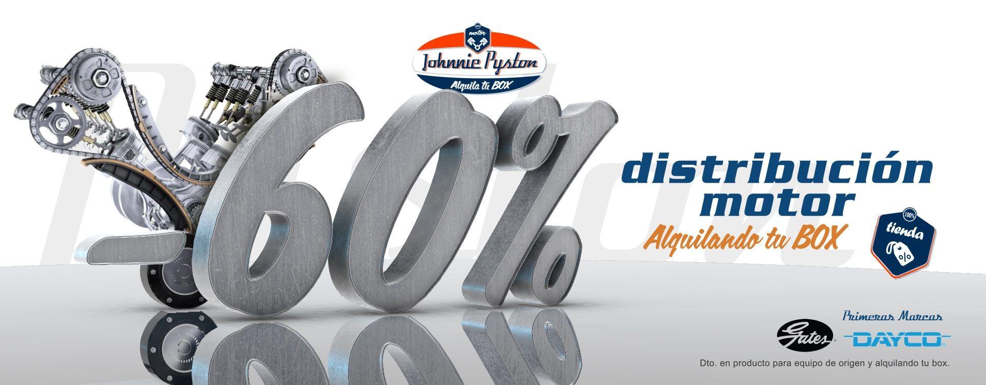 Discos, pastillas y amortiguadores al 60% de descuento en Johnnie Pyston